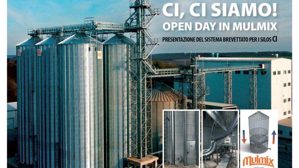 Open day Mulmix presentazione del silo a cono interno senza colonne di supporto